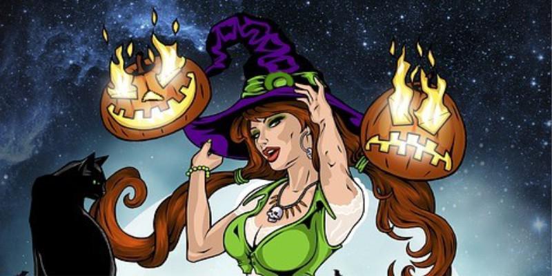 Найди 10 отличий: Ведьма на метле