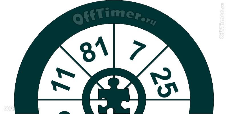 математическая задачка - угадай число в секторе колеса