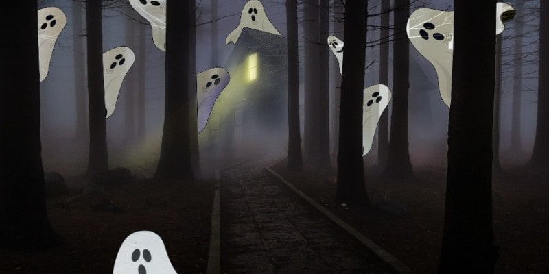 головоломка на внимательность - найди доброго призрака