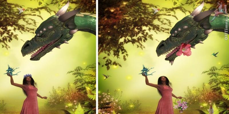 головоломка найди 10 отличий: Королева Драконов
