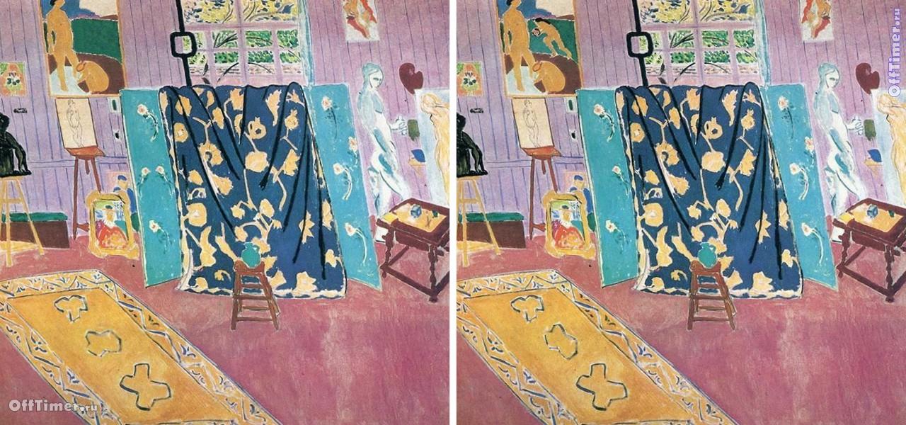 игра головоломка найди 5 отличий на картине художника