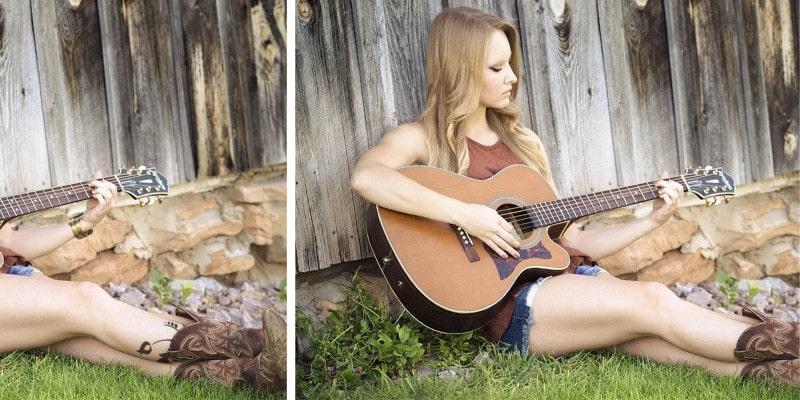 игра головоломка найди 10 отличий на картинках девушкой и гитарой