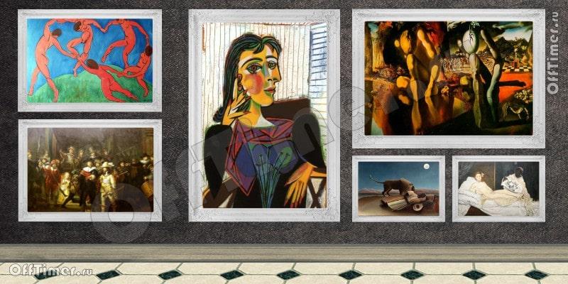 тест - известные художники и их картины