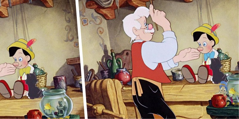 головоломка найди 10+ отличий: м/ф Пиноккио