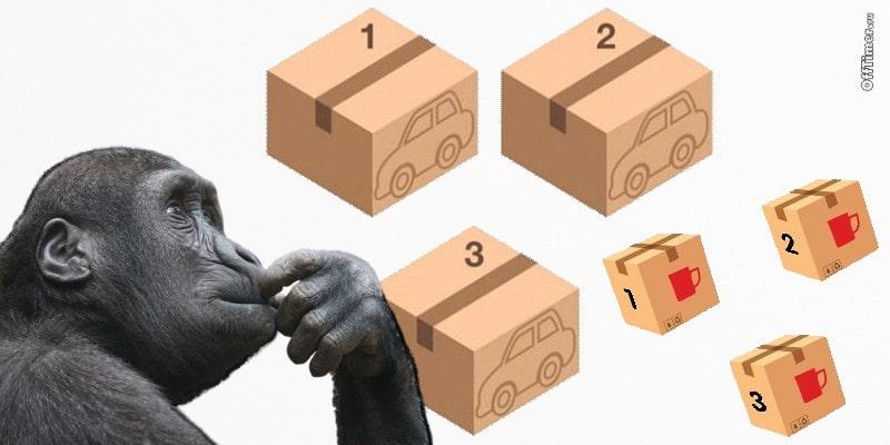 Головоломка с машиной в коробках
